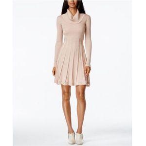 Calvin Klein Cowl Blush sweater dress long sleeve